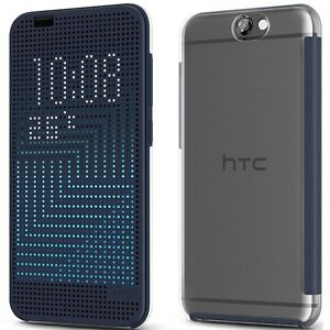 check out baa5c df469 Details about Genuine HTC ONE A9 Dot View FLIP CASE Mobile original cell  phone book cover hard