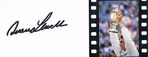 """Ivan Lendl 1960- genuine autograph 3""""x8"""" postcard photo Tennis No.1"""