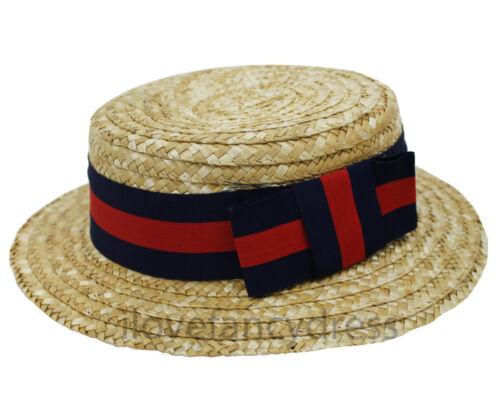 Deluxe Paglia Boater Cappello Adulto SCUOLA BOY ANNI/'20 COSTUME VITTORIANO negozio di barbiere