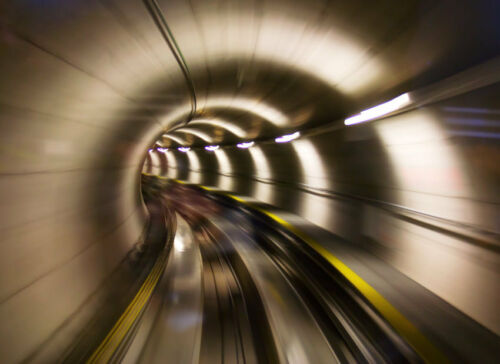 24 V Nappes Papier Peint-métro Tunnel 350x260cm-Digital Pression 7 voies-avec vraiment la colle