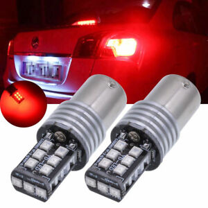 2x-Ampoule-15-LED-CanBus-anti-erreur-12V-24V-error-Rouge-Red-P21W-BA15S-1156-R5W