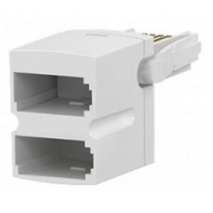 BT-Telephone-Phone-Socket-DOUBLE-2-way-Adaptor-Splitter-commtel-low-profile