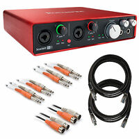 Focusrite Scarlett 6i6 (2nd Gen) Usb Audio Interface Cable Kit on sale