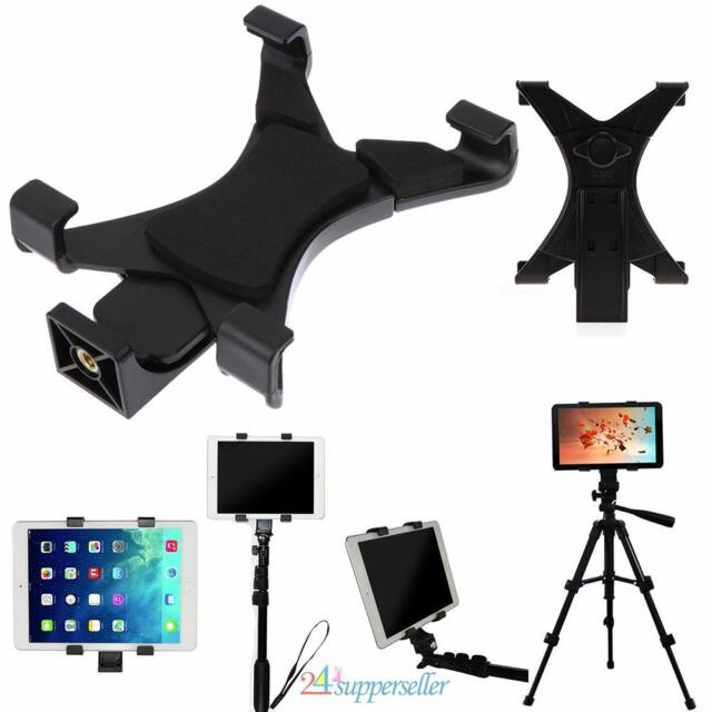 "Universal Tablet Tripod Mount Clamp Holder Bracket Clip Adapter for 7/""~10.1/""iPad"