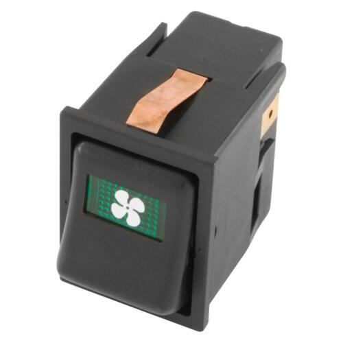 Classic Mini Car 16Amp Off-On-On FAN Illuminated Rocker//Dashboard Switch