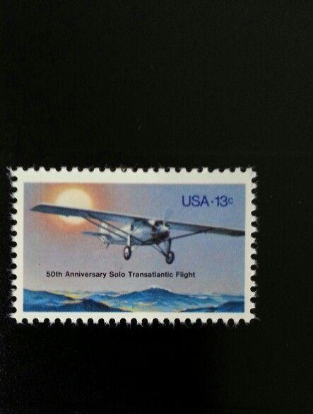 1977 13c Lindbergh Transatlantic Flight 50th Anniversar