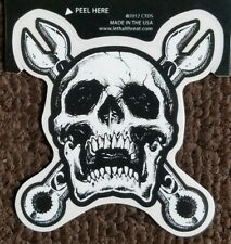 LETHAL THREAT STICKER MOTORCYCLE BOARDS RC00027  V TWIN ENGINE SKULL HELMETS