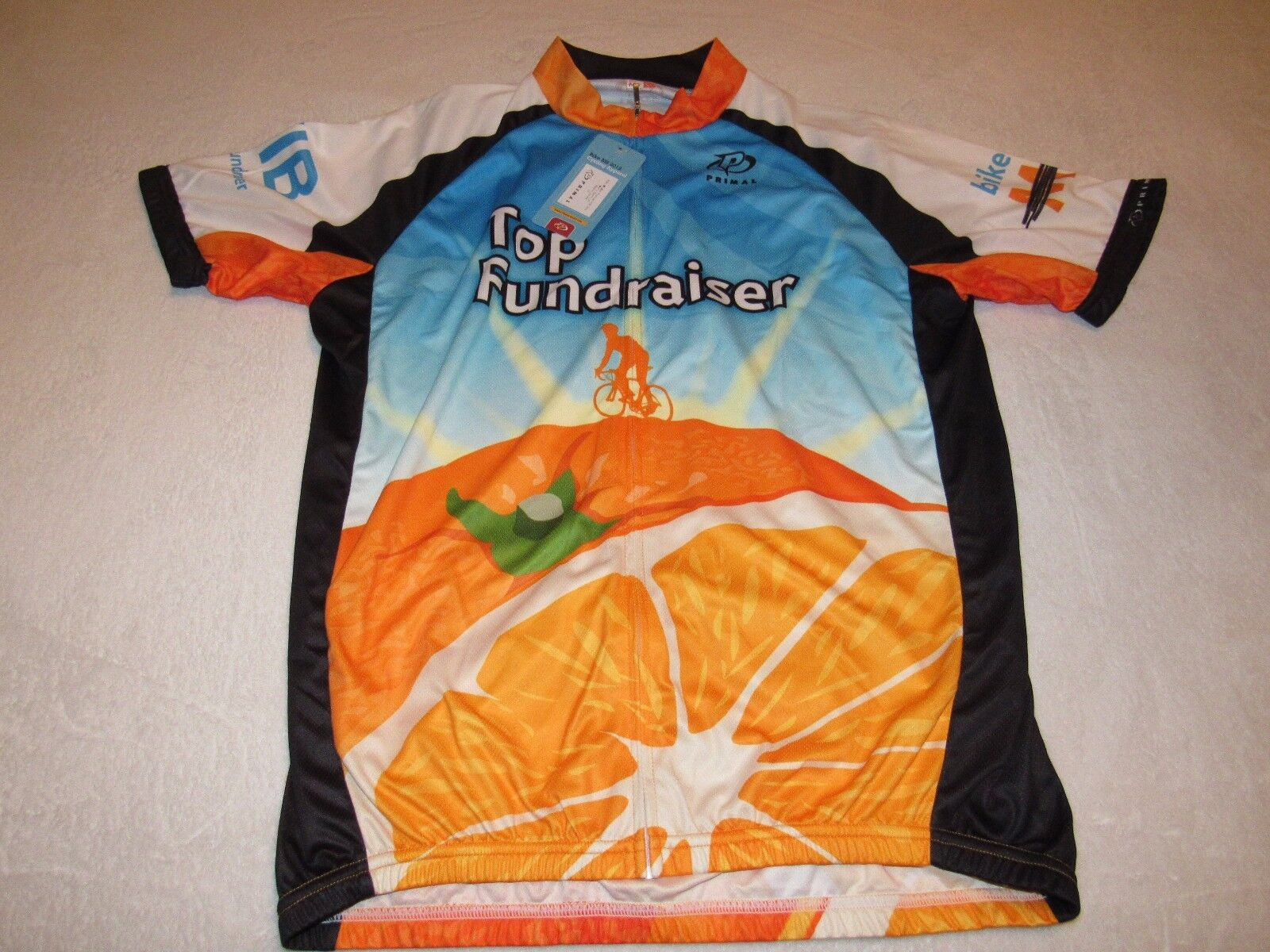 NWT MENS CYCLING JERSEY  PRIMAL BIKE MS THE CITRUS TOUR LARGE TOP FUNDRAISER  hot sports