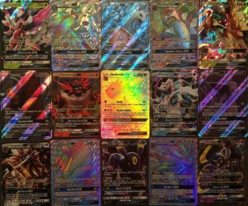 50 Pokemon Cards Bulk Lot - guaranteed 1 GX ULTRA RARE 9 Rare/Holo shiny AMAZING