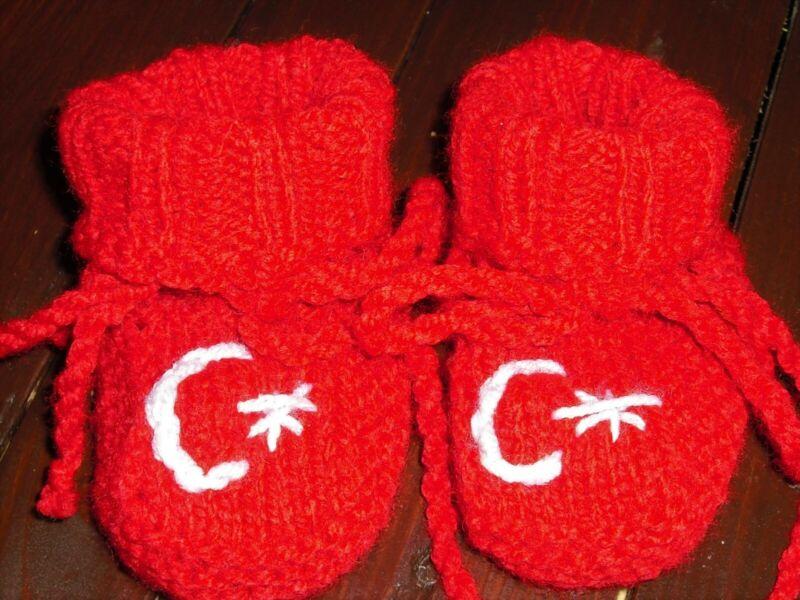 2019 Neuestes Design Babyschuhe Gestrickt Socken Für Baby Rot Türkei Weiss Neu 8 Cm