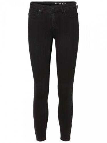 Noisy May jeans femmes nmkimmy NW Bottillons zip-lsim Fit-Noir-Black