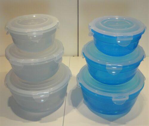 Lock /&Lock 3x Dose Set 1,4 l +850+480 ml div Farben nestbar bpa-frei rund