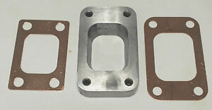 MILD-STEEL-T3-TO-T25-T28-TURBO-MANIFOLD-FLANGE-ADAPTER-2-COPPER-GASKETS
