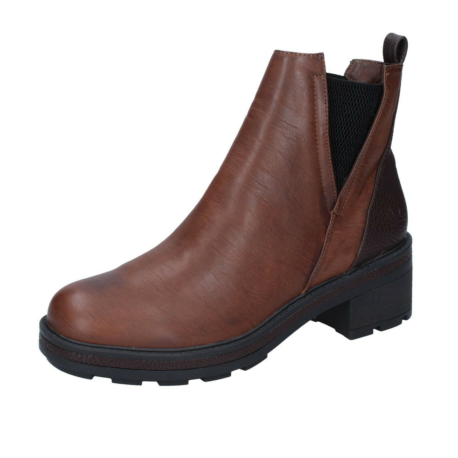 Femme chaussures Francesco Milano 8 (UE 41) Bottines en cuir marron BR37
