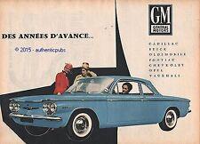 PUBLICITE GENERAL MOTORS CADILLAC PONTIAC BUICK OPEL CHEVRELET 1960 AD VINTAGE