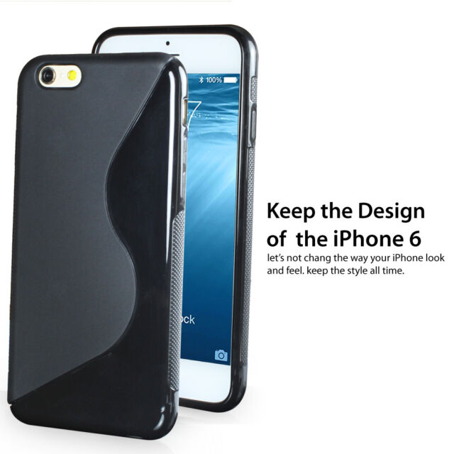 [IPHONE 6 TEXTURE] Flexible S Shape Hybrid Soft TPU Case Cover for iPhone 6 4.7