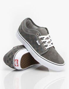 84cf789af3 VANS CHUKKA LOW CHECKERS GREY WHITE SZ MENS 6.5 24.5 CM SHOES SKATE ...