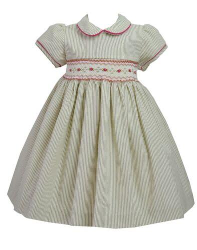 Pretty Originals Smocked Dress /& Headband style BD01604  Age 6m-5 years