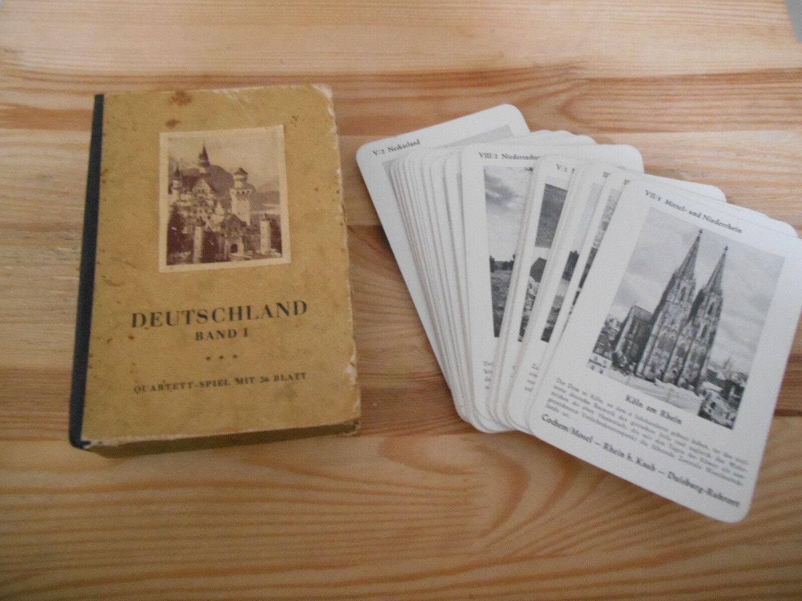 Gioco RACCOLTA quartetto-Germania volume 1  36 CARDS + SP 'regole  Schmid