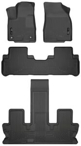 Husky Liners Black Front Amp 2nd Amp 3rd Row Liners For 2014