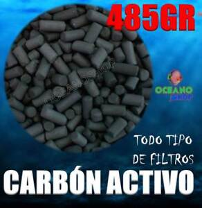485GR CARBON ACTIVO ACUARIO FILTRO MOCHILA EXTERIOR INTERIOR INTERNO ACTIVADO