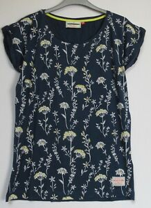 New-Brakeburn-Navy-Cow-Parsley-Summer-T-Shirt-Top-Size-8-16