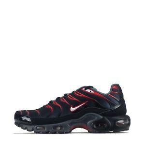Nike-Air-Max-Plus-Tuned-TN-Scarpe-Da-Ginnastica-Uomo-Nero-Grigio-Scuro-UK-6-6-5