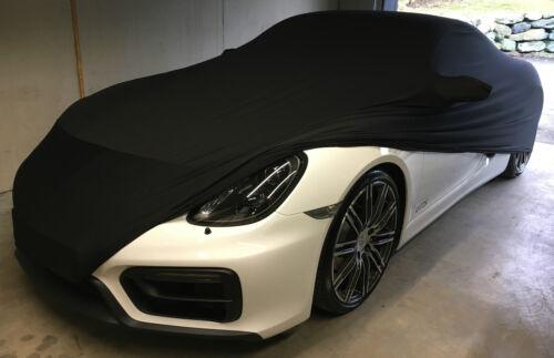 indoor Car Cover Schutz Hülle f Porsche Cayman Boxster 981 718 GT4 schwarz soft