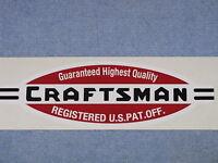 Craftsman Made Tool Vinyl Sticker Decal 1940's Logo Registered Us Pat. Off. Box