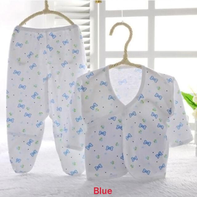 Soft Boys Girls Baby Animal Print Belted Shirt & Pants Newborn Clothes 0-3M