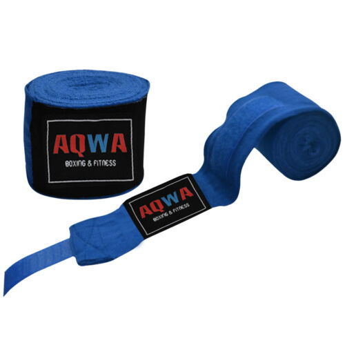 AQWA Hand Wraps Bandages Fist Boxing Inner Gloves 4.5m Cotton MMA Muay Thai Blue