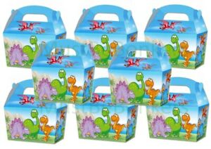Dinosaur-CARTOON-Boys-Party-Food-Boxes-Childrens-Picnic-Birthday-Bag-Plate-Box