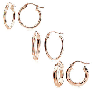 02bde49ed Image is loading Rose-Gold-Flash-Silver-Polished-Round-Square-Tube-