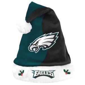 finest selection 6b785 83bb8 Image is loading Philadelphia-Eagles-Logo-Holiday-Plush-Santa-Hat-NEW-