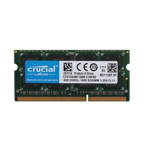 Crucial-4GB-Laptop-Memory-PC3L-12800S-2RX8-DDR3L-1600MHz-RAM-SO-DIMM-204PIN-CL11