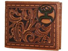 9003 Genuine Leather Man/'s Western Tooling Wallet in 4 Colors