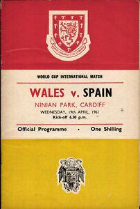 19-04-1961-Pays-de-Galles-Espagne-a-Cardiff-WM-qualification