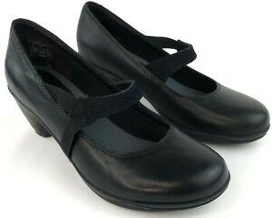 Merrell-Womens-Black-Leather-Mary-Jane-Pumps-Performance-Wear-US-9-EUR-40-UK-6-5