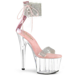 Pleaser-ADORE-727RS-Clear-Pink-Platform