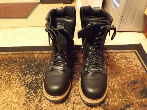 Boots 10 Harley Mens Zips Size Davidson Side With Black q7xvwfnpg