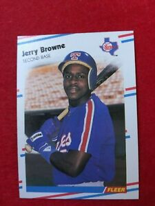 BASEBALL-TRADING-CARD-FLEER-1988-462-JERRY-BROWNE-SS63
