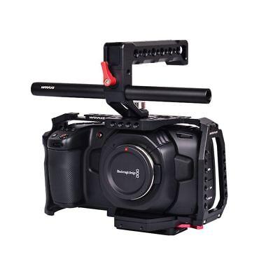 Waraxe Bmpcc 4k Cage Cage Kit Blackmagic Pocket Cinema Camera 4k Aluminium Black 4250566241256 Ebay