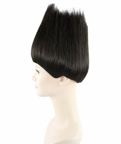 Women Black Straight Trolls Wig for Halloween Cosplay Party Fancy Dress HW-1363