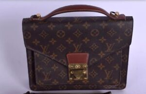 88927b645205 Image is loading Vintage-Louis-Vuitton-Monogram-Monceau-Handbag