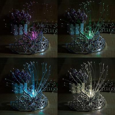 Beauty Flashing Bridal Princess Tiaras Headbands&LED Magic wand Crown Xtmas Gift