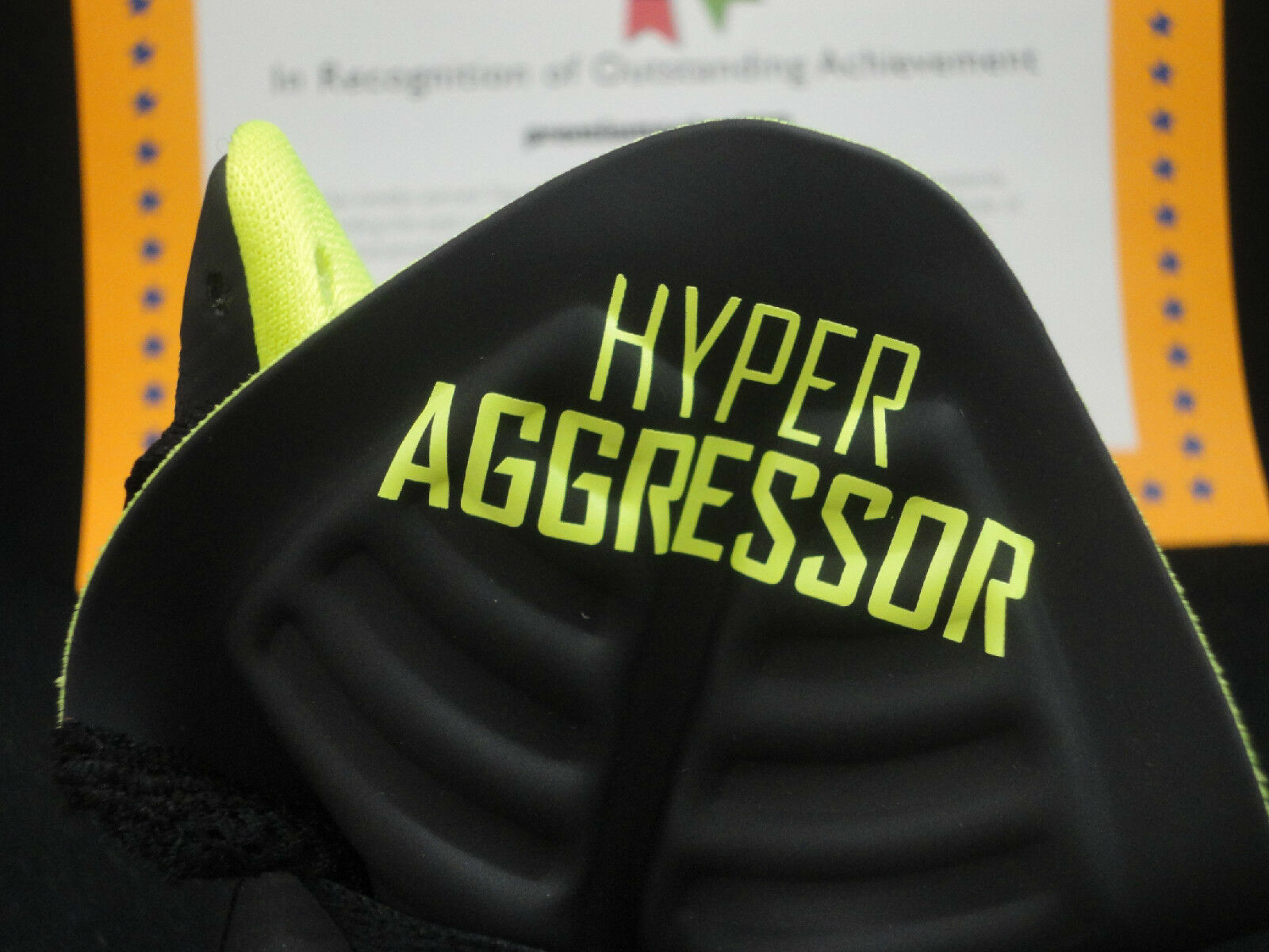 Nike Air Max Hyperaggressor, Svart / Volt, 2012, Storlek 11.5