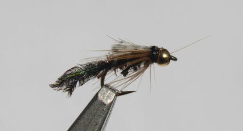 BH Zug Bug #16; 1 Dozen Trout Fishing Flies