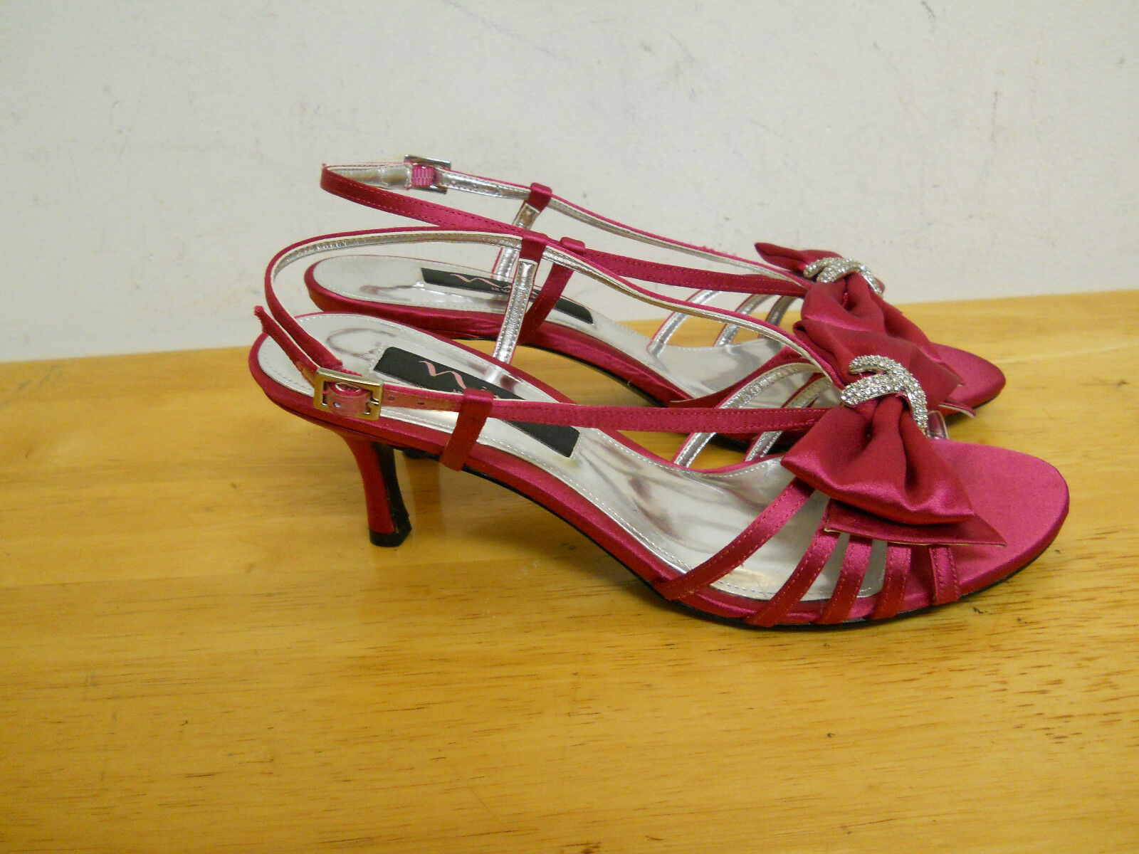 Nina New Donna 7.5 Fuchsia Slingback Heel Sandals 7.5 Donna M Shoes 0cfbfc