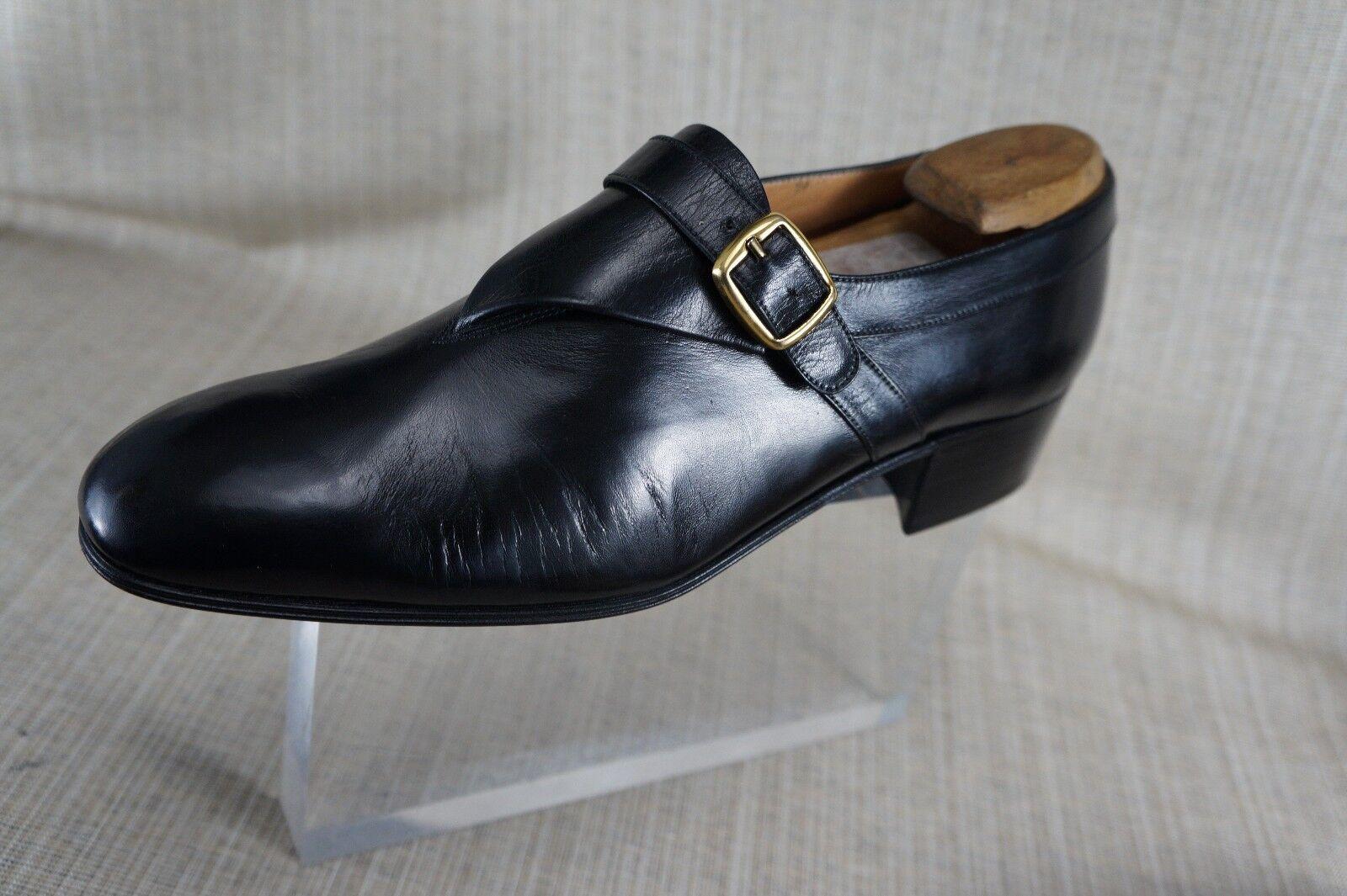 Nuovi uomini, la Mano di David  ha fatto Italia nero Leather Monk Strap Loafer Slip su 7.5 D.  consegna gratuita