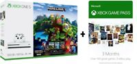 Microsoft Xbox One S 500GB Console Minecraft Complete Adventure Bundle + 3 Month Game Pass